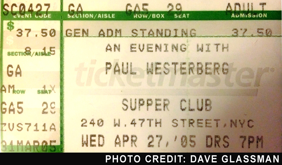 Paul Westerberg Ticket